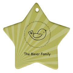 2 Sided Star 3 By Martha Meier   Star Ornament (two Sides)   7paw6uyzqfgo   Www Artscow Com Back