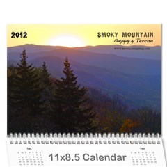 2012 Calendar Smoky Mountains By Terena Lambert Boone   Wall Calendar 11  X 8 5  (12 Months)   5y4zfio9xsvn   Www Artscow Com Cover