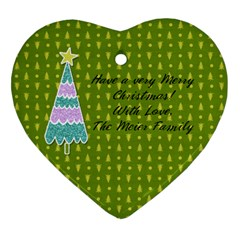 2 Sided Heart 4 By Martha Meier   Heart Ornament (two Sides)   Qb8uabhp2951   Www Artscow Com Back