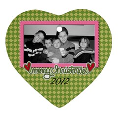 2 Sided Heart 2 By Martha Meier   Heart Ornament (two Sides)   2ztra1k2s8tl   Www Artscow Com Front