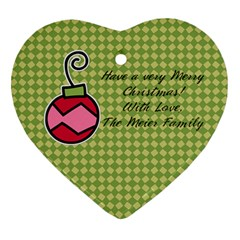 2 Sided Heart 2 By Martha Meier   Heart Ornament (two Sides)   2ztra1k2s8tl   Www Artscow Com Back