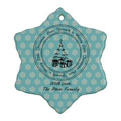 2 Sided Snowflake 3 By Martha Meier   Snowflake Ornament (two Sides)   Jpoglwx18dkg   Www Artscow Com Back