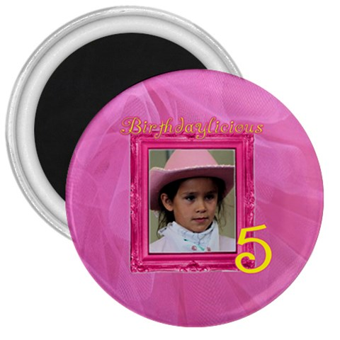 Birthdylicious Magnet By Patricia W   3  Magnet   L6uc141oi177   Www Artscow Com Front
