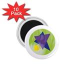 Jewish Star Menora 1.75  Magnet (10 pack)
