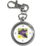 Jewish Star Menora Key Chain Watch