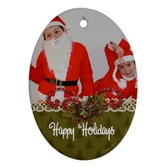 Oval Ornament (two Sides) Christmas2 By Jennyl   Oval Ornament (two Sides)   Wqiaigg2zvdy   Www Artscow Com Back