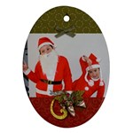 Oval Ornament (Two Sides)-Christmas5
