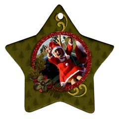 Two Sides: Ornament Christmas 2 By Jennyl   Star Ornament (two Sides)   3rko5c7vp1t3   Www Artscow Com Front