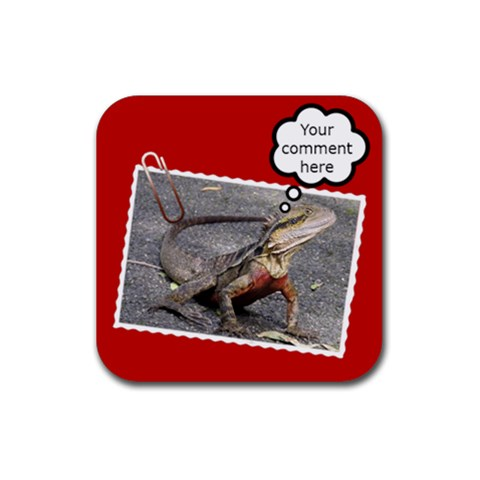 Comment Coaster By Deborah   Rubber Coaster (square)   Tx0o2197afc1   Www Artscow Com Front