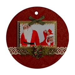 Round Ornament (two Sides): Christmas1 By Jennyl   Round Ornament (two Sides)   9emjsgtwtb3p   Www Artscow Com Back