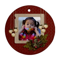Round Ornament (two Sides): Christmas4 By Jennyl   Round Ornament (two Sides)   Amc7htrmke1m   Www Artscow Com Back