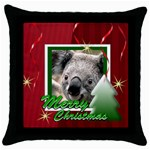 christmas - Throw Pillow Case (Black)