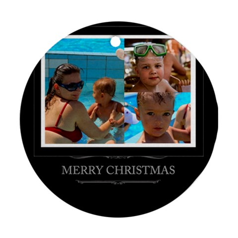 Xmas Idea By Divad Brown   Ornament (round)   Altpu5iauilw   Www Artscow Com Front