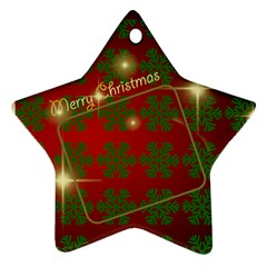 Merry Christmas Red And Green Star (2 Sided) By Deborah   Star Ornament (two Sides)   E3l2qaauhbyr   Www Artscow Com Back