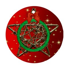 My Star Round Ornament (red) (2 Sided) By Deborah   Round Ornament (two Sides)   Zm5mk3djp4bd   Www Artscow Com Back