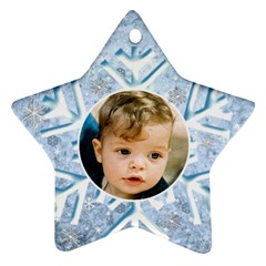 My Ice Blue Star Snowflake (2 Sided) By Deborah   Star Ornament (two Sides)   M33h79anyeut   Www Artscow Com Back