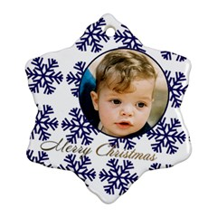 Blue Snowflake Ornament (2 Sided) By Deborah   Snowflake Ornament (two Sides)   54b15qx4wetj   Www Artscow Com Front