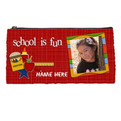Pencil Case: School Is Fun By Jennyl   Pencil Case   Z2hakjp0rtt0   Www Artscow Com Front