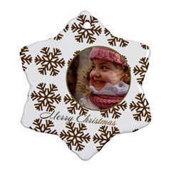 Gold Snowflake Ornament (2 Sided) By Deborah   Snowflake Ornament (two Sides)   809utxae399x   Www Artscow Com Front