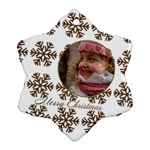 Gold Snowflake Ornament (2 Sided) - Snowflake Ornament (Two Sides)