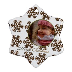 Gold Snowflake Ornament (2 Sided) By Deborah   Snowflake Ornament (two Sides)   809utxae399x   Www Artscow Com Back