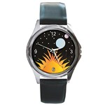 Cosmos Round Metal Watch