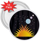 Cosmos 3  Button (10 pack)