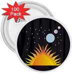 Cosmos 3  Button (100 pack)
