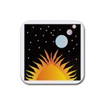 Cosmos Rubber Square Coaster (4 pack)