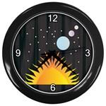 Cosmos Wall Clock (Black)