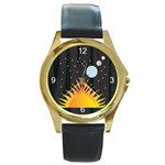 Cosmos Round Gold Metal Watch