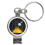 Cosmos Nail Clippers Key Chain