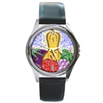 Fruit and Veggies Round Metal Watch