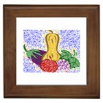 Fruit and Veggies Framed Tile