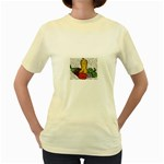 Fruit and Veggies Women s Yellow T-Shirt
