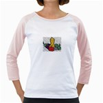 Fruit and Veggies Girly Raglan