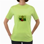 Fruit and Veggies Women s Green T-Shirt