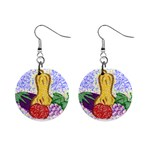 Fruit and Veggies 1  Button Earrings