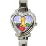 Fruit and Veggies Heart Italian Charm Watch