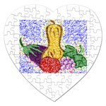 Fruit and Veggies Jigsaw Puzzle (Heart)