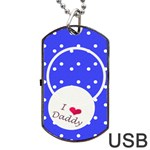 Love Daddy Dogtag usb - Dog Tag USB Flash (Two Sides)