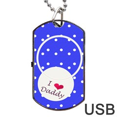 Love Daddy Dogtag Usb By Daniela   Dog Tag Usb Flash (two Sides)   Jcfd1gc0y33x   Www Artscow Com Back