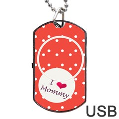 Love Mommy Dogtag Usb By Daniela   Dog Tag Usb Flash (two Sides)   Zbtzhb2bwtq3   Www Artscow Com Front
