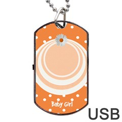 My Baby Girl Orange Dogtag Usb By Daniela   Dog Tag Usb Flash (two Sides)   R7o3b32vqmbo   Www Artscow Com Front