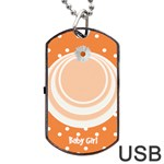 My Baby Girl Orange Dogtag usb - Dog Tag USB Flash (Two Sides)