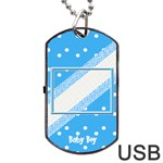 My Baby Boy Orange Dogtag usb - Dog Tag USB Flash (Two Sides)