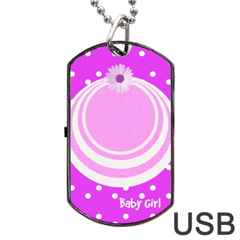 My Baby Girl Dogtag Usb By Daniela   Dog Tag Usb Flash (one Side)   Z3294nefj2r0   Www Artscow Com Front