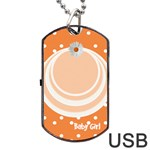 My Baby Girl orange dogtag usb 1s - Dog Tag USB Flash (One Side)
