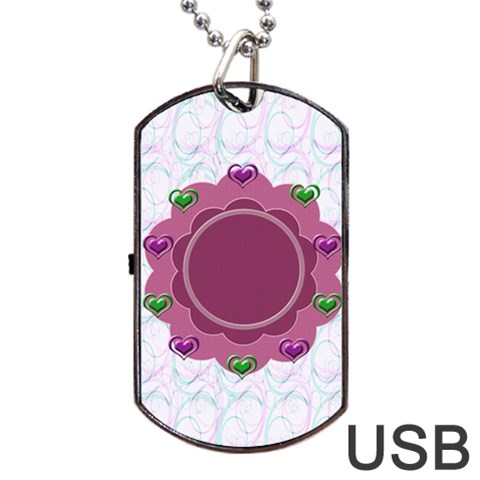 Love Dogtag Usb 1s By Daniela   Dog Tag Usb Flash (one Side)   Mmibchil9uvg   Www Artscow Com Front