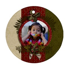 Round Ornament (two Sides): Christmas6 By Jennyl   Round Ornament (two Sides)   Sfk71bu4ba9y   Www Artscow Com Front